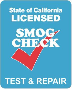 smog check test and repair sign